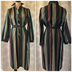 Lanvin Vintage Striped 70s Shirtdress